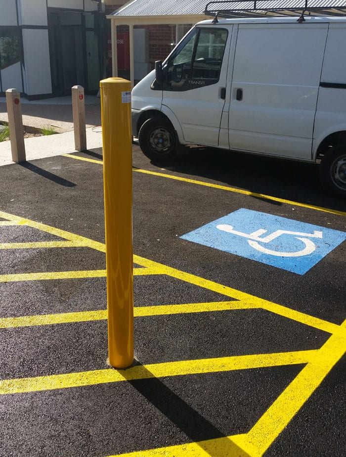 Shug Permanent Bollards - perfect for disabled parking bays
