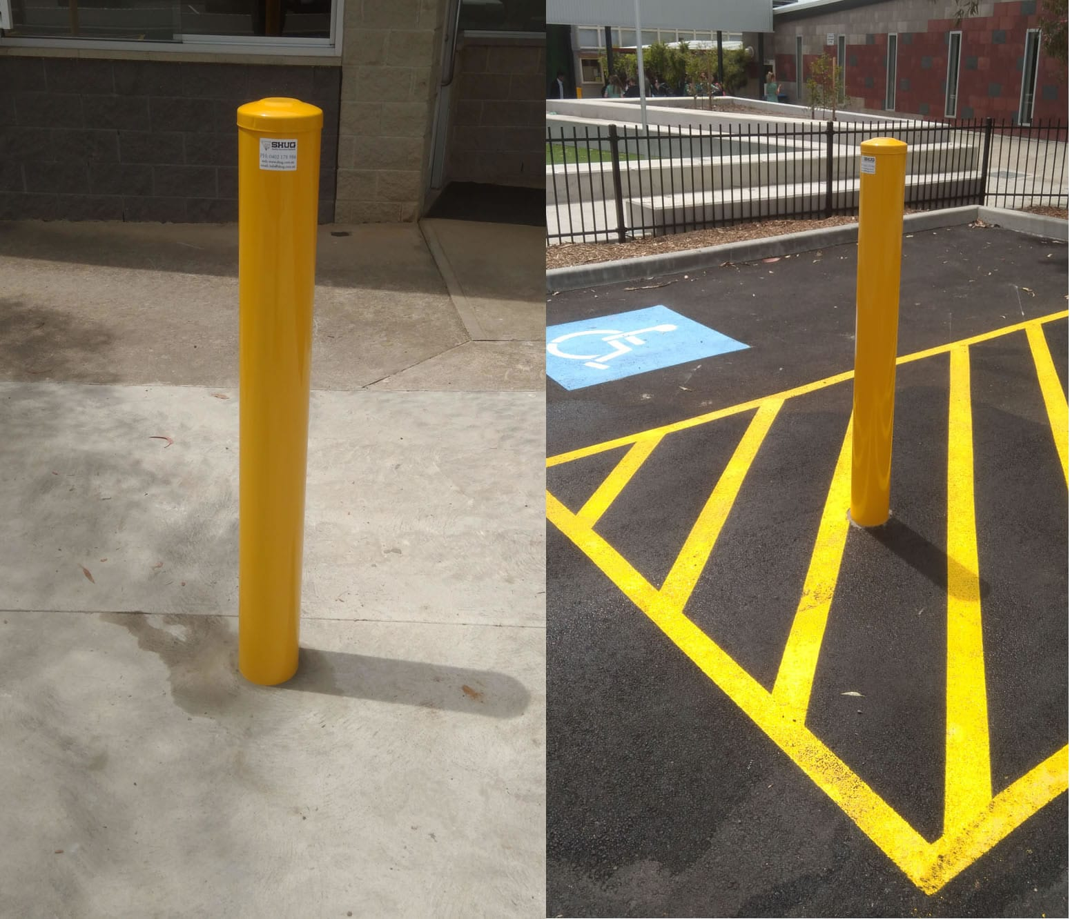 Permanent Bollards at Ringwood North Primary School