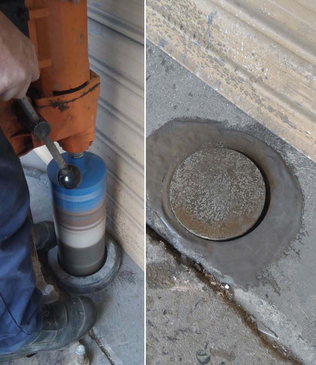 Drilling the hole for your SHUG Removable Bollard